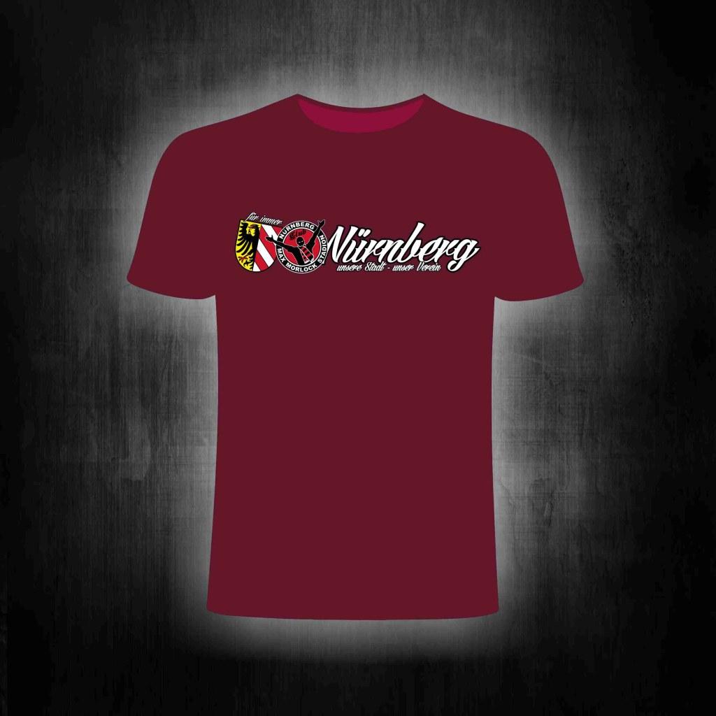 T-Shirt einseitig bedruckt- Unsere Stadt, unser Verein