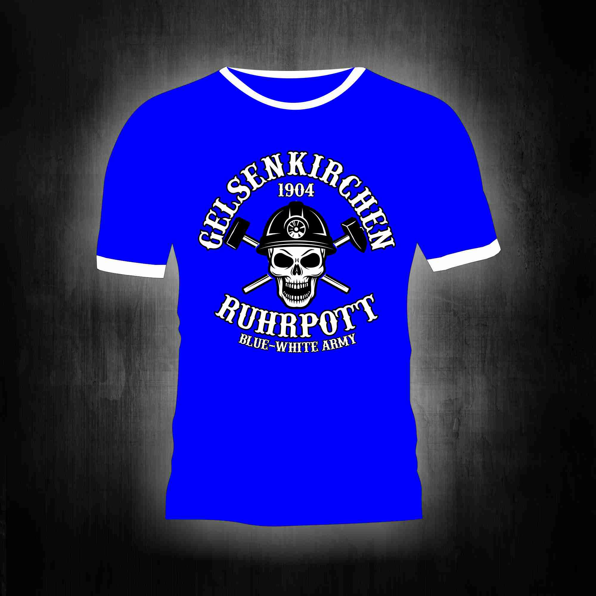 T-Shirt einseitig bedruckt- Gelsenkirchen Ruhrpott Skull