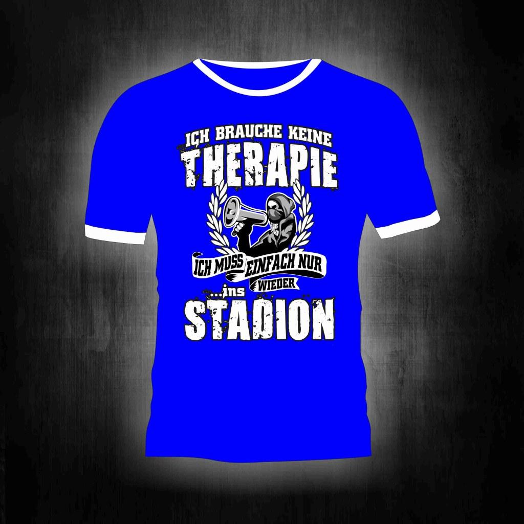 T-Shirt einseitig bedruckt- Gelsenkirchen Ruhrpott Stadion Thera