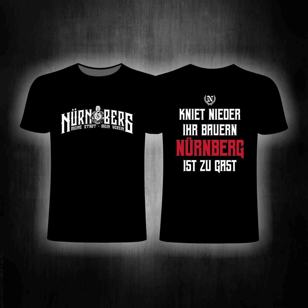 T-Shirt beidseitig bedruckt Kniet nieder ihr Bauern - Nürnberg