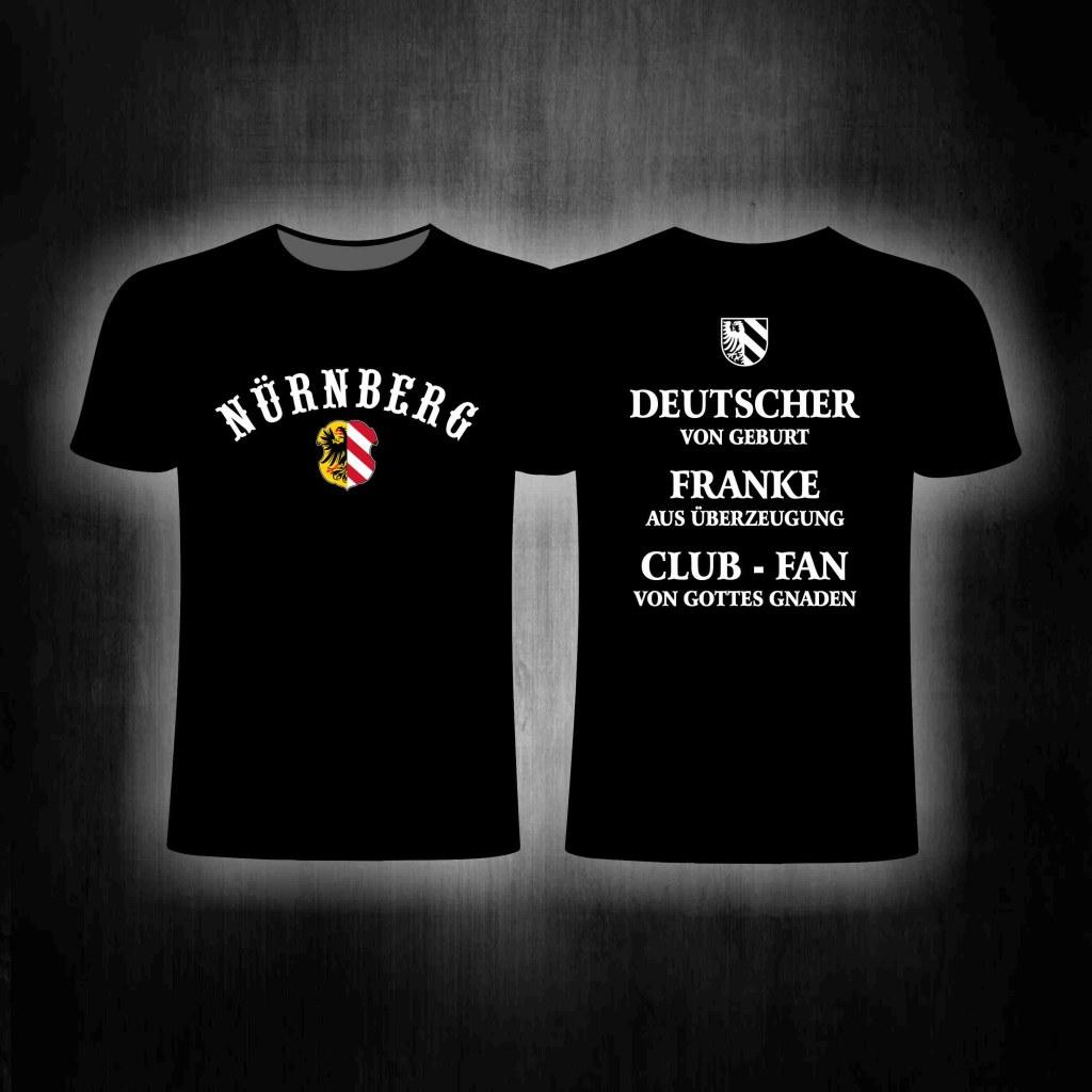 T-Shirt beidseitig bedruckt 'Nürnberg  Deutscher von Geburt' Sc