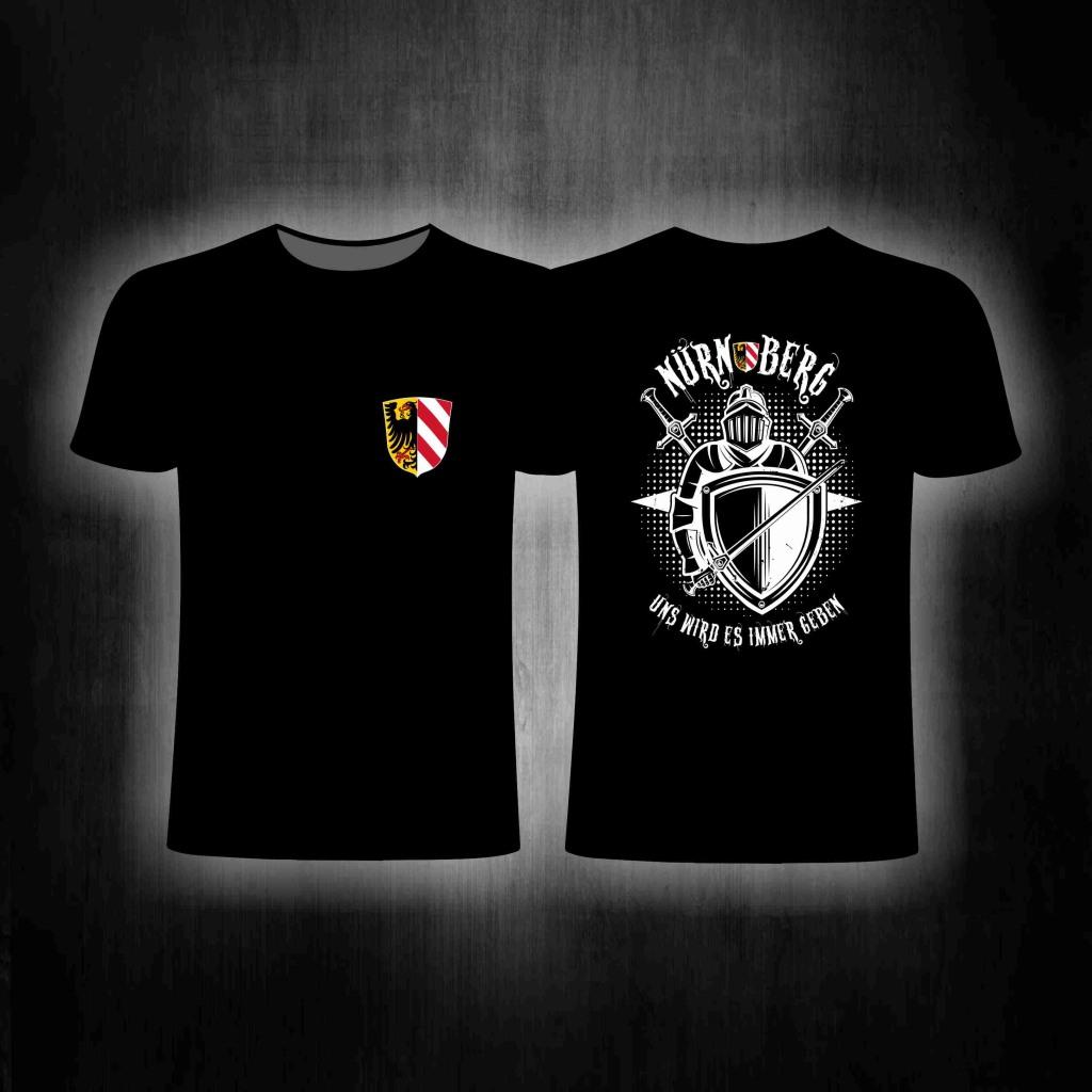 T-Shirt beidseitig bedruckt - Uns wird es immer geben
