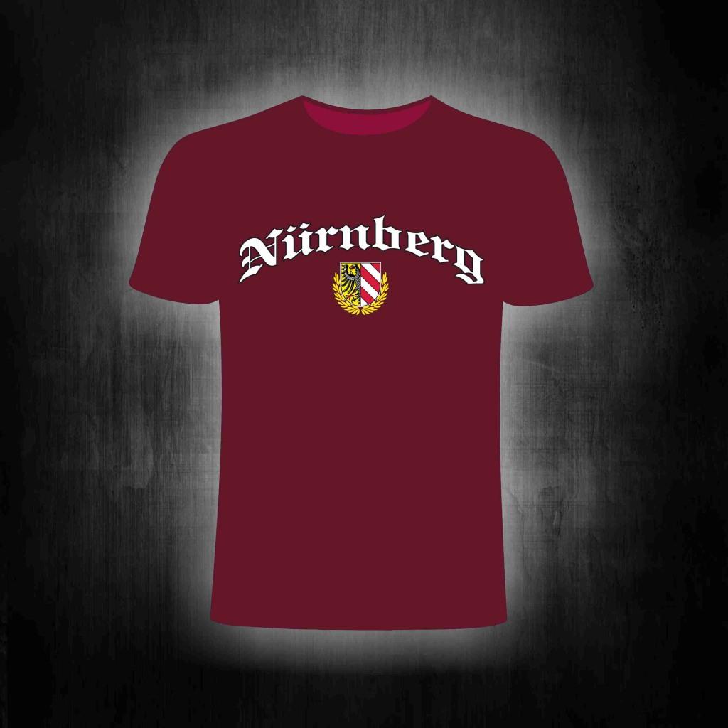 T-Shirt einseitig bedruckt  Stadtwappen mit Lorbeerkranz