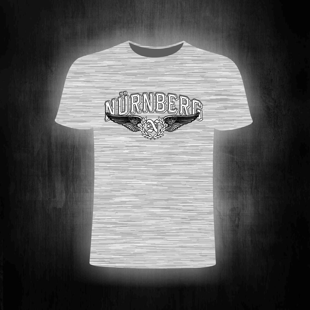 T-Shirt einseitig bedruckt  Adler Schwinge Flügel mit Lorbeerkr