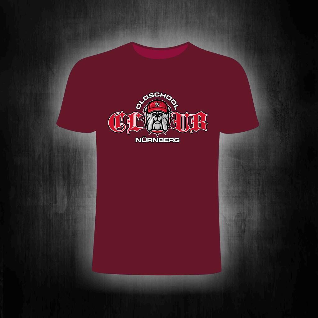 T-Shirt einseitig bedruckt  CLUB  Pitbull mit Cap