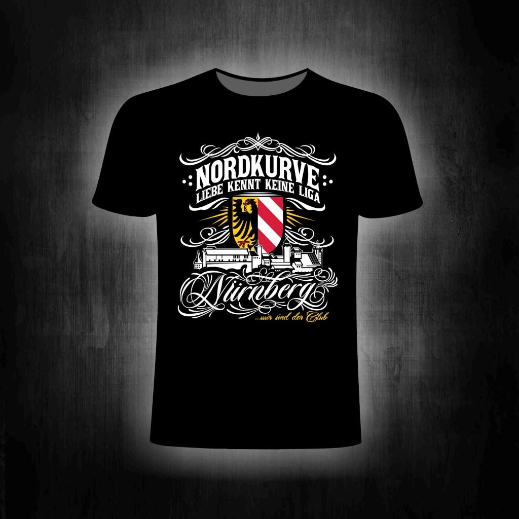 T-Shirt einseitig bedruckt  Liebe kennt keine Liga Skyline
