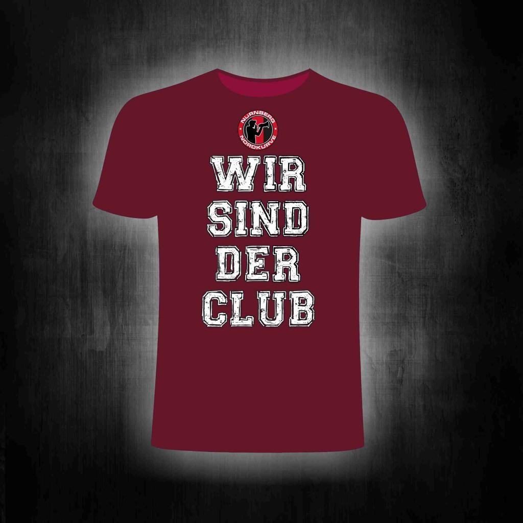 T-Shirt einseitig bedruckt  Wir sind der Club