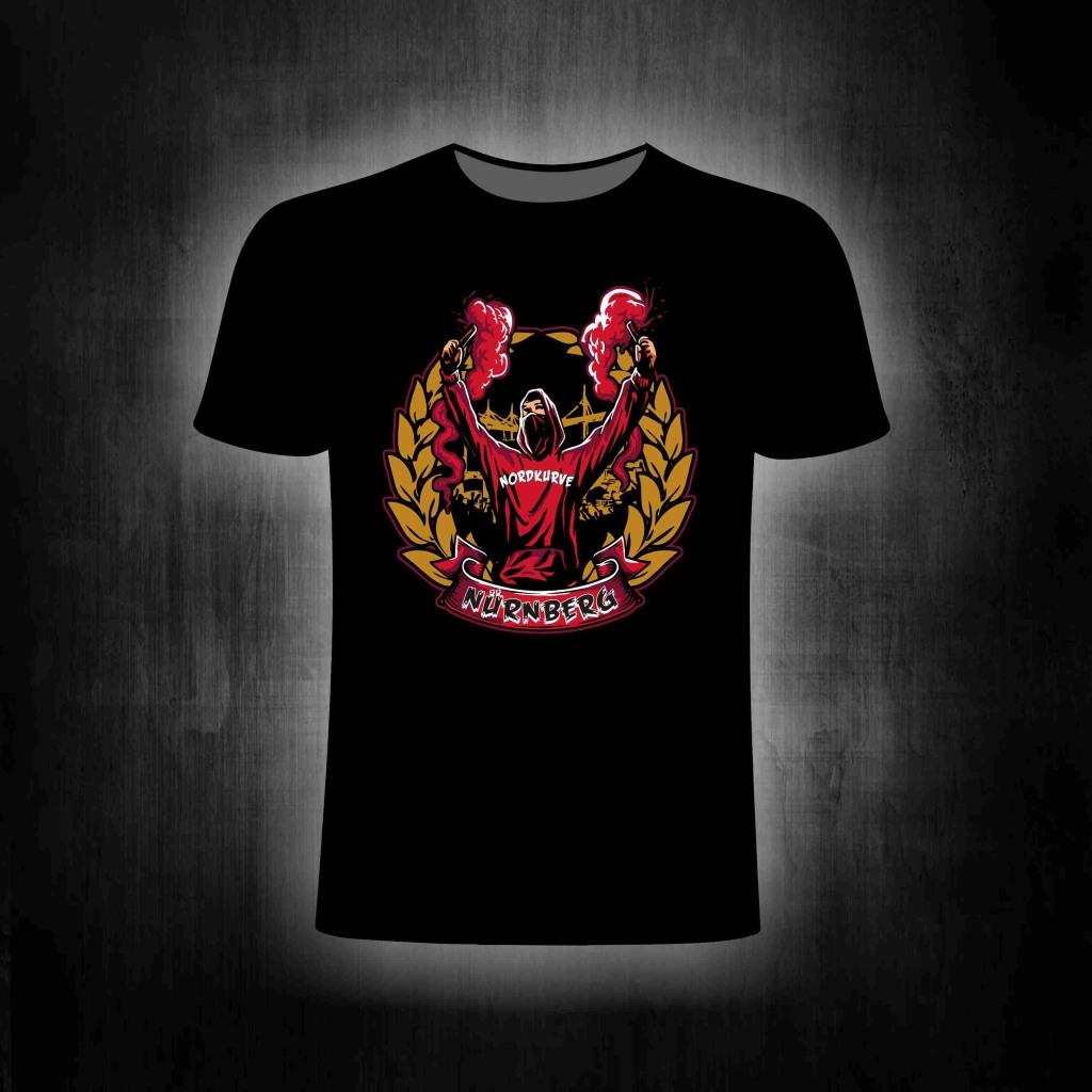 T-Shirt einseitig bedruckt Bengalo Mann mit Lorrbeerkranz
