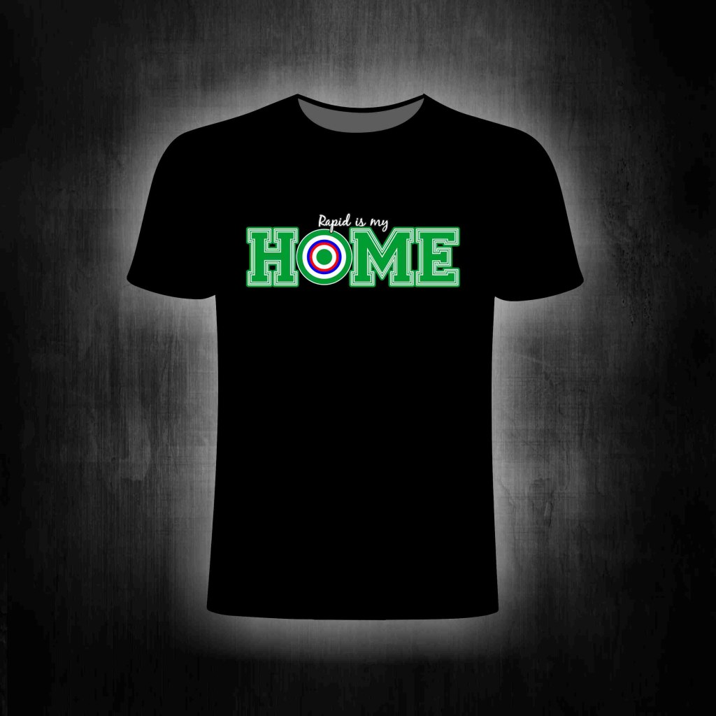 T-Shirt einseitig beruckt Rapid is my home