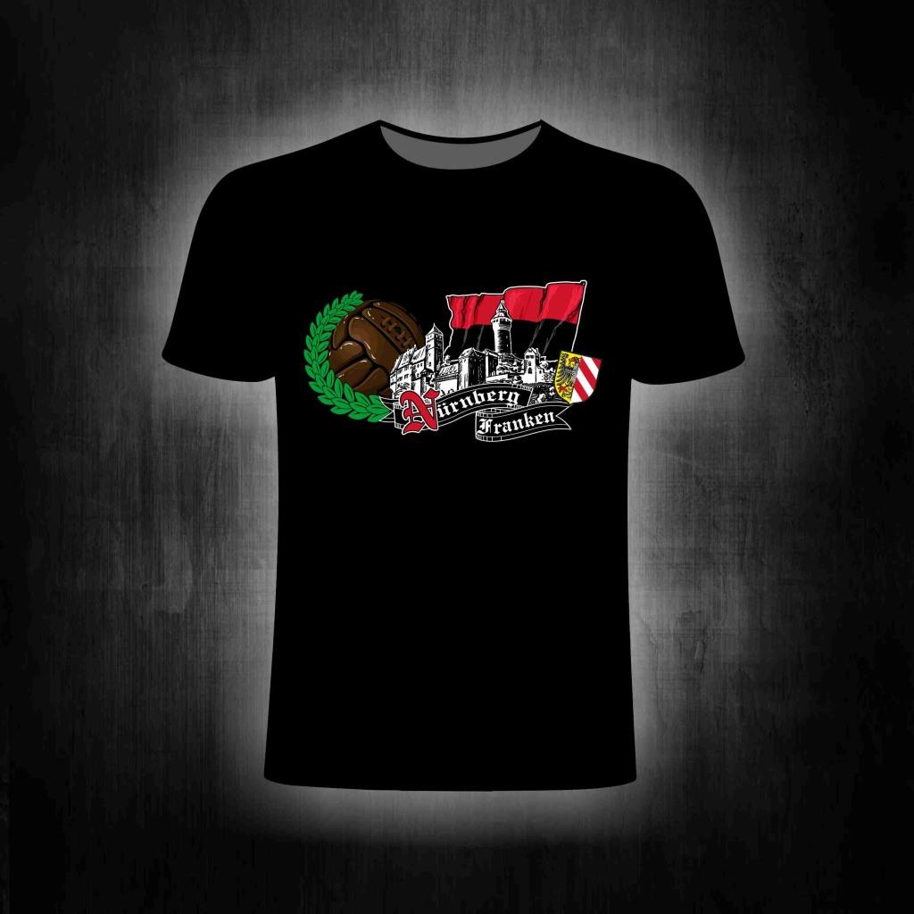 T-Shirt einseitig bedruckt  Franken Burg Skyline  Retroball