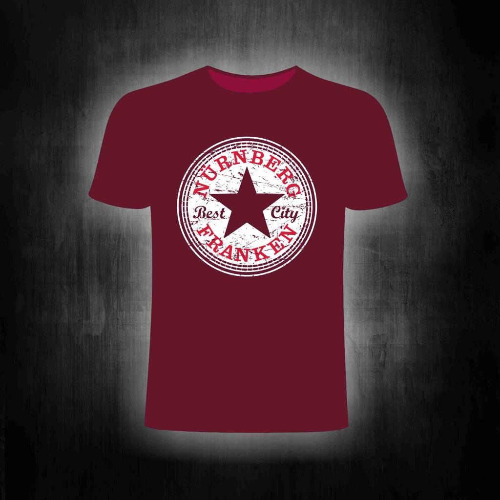 T-Shirt einseitig bedruckt - Best City Franken