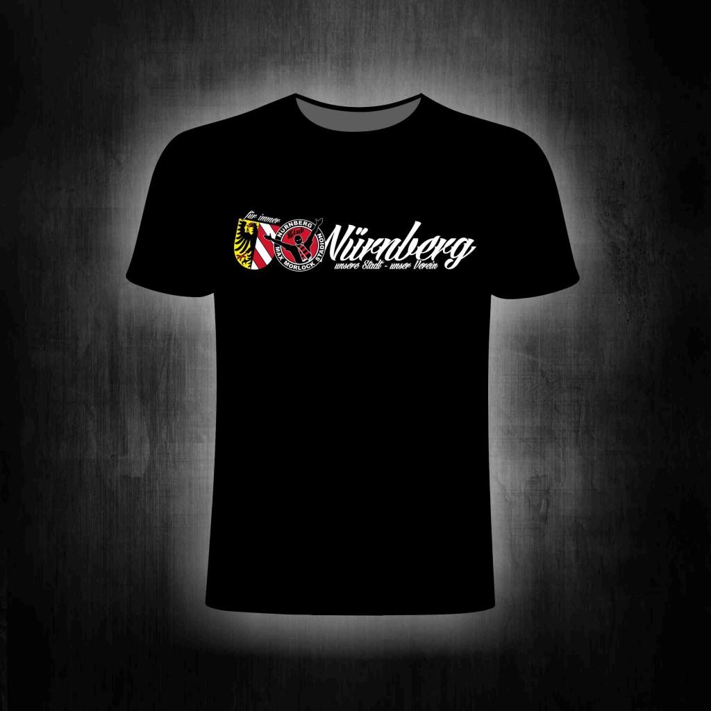 T-Shirt einseitig bedruckt Unsere Stadt unser Verein