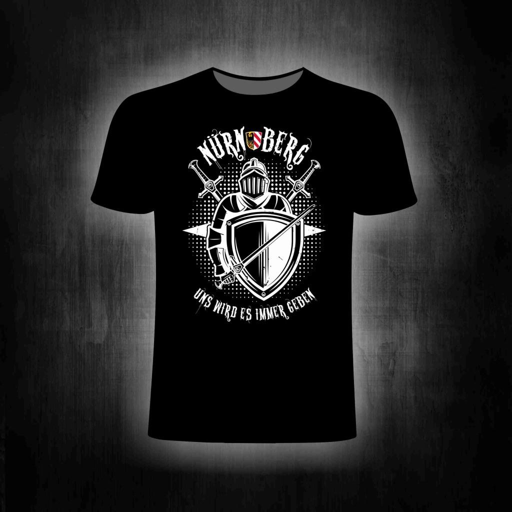 T-Shirt einseitig bedruckt  Uns wird es immer geben