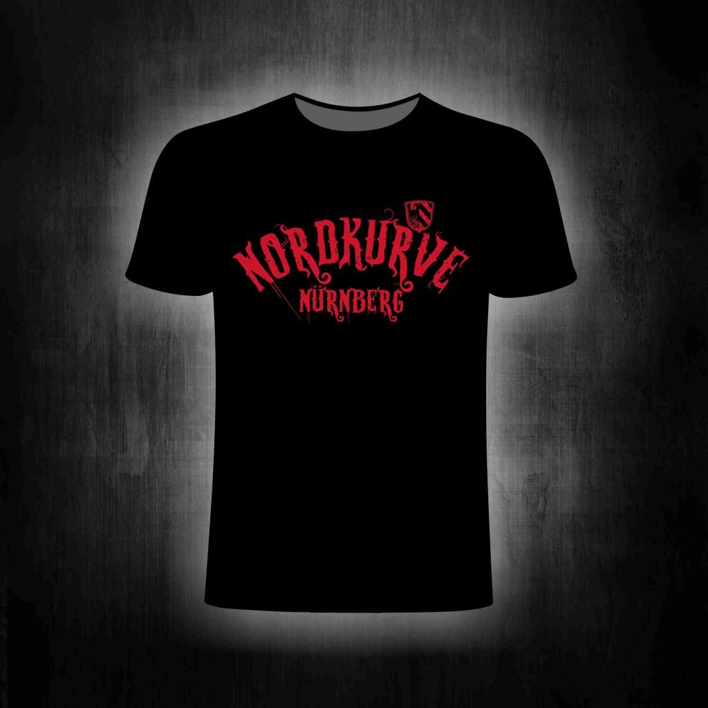 T-Shirt einseitig bedruckt  Nordkurve Nürnberg