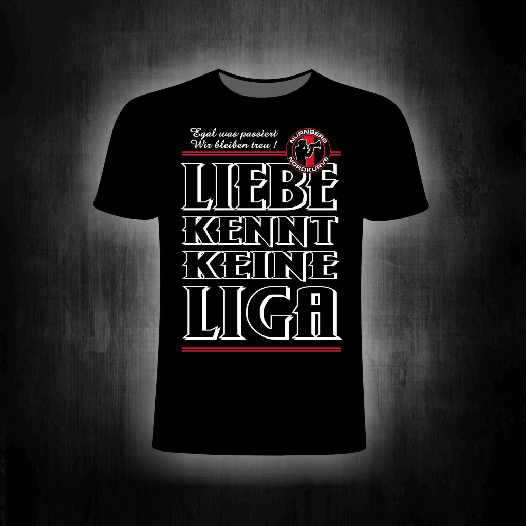 T-Shirt einseitig bedruckt  Liebe kennt keine Liga