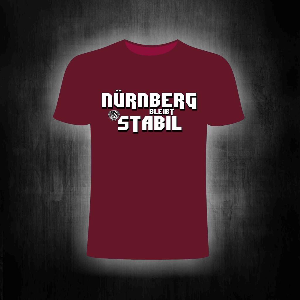 T-Shirt einseitig bedruckt  Nürnberg bleibt stabil