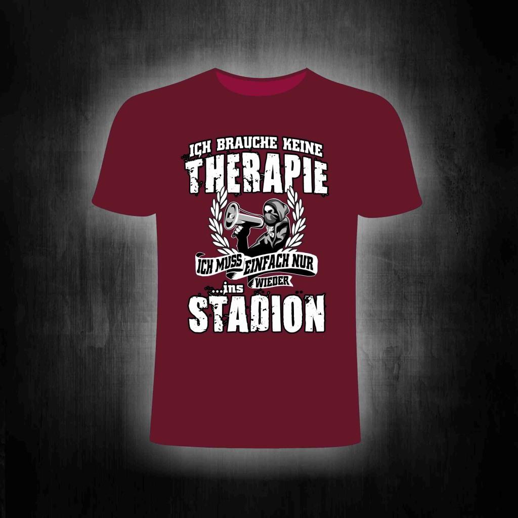 T-Shirt einseitig bedruckt  Ich brauche keine Therapie