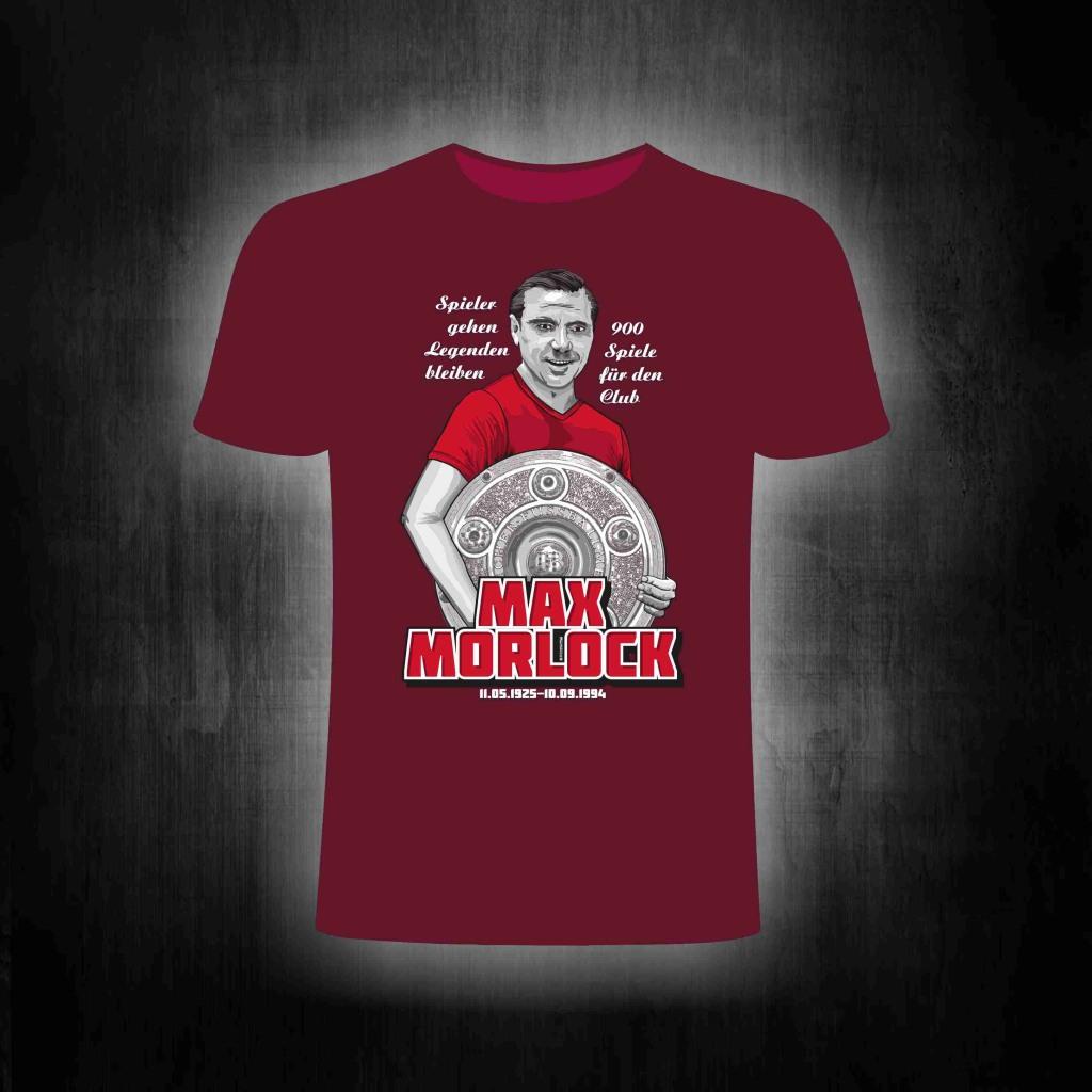 T-Shirt einseitig bedruckt  Max Morlock Meisterschale