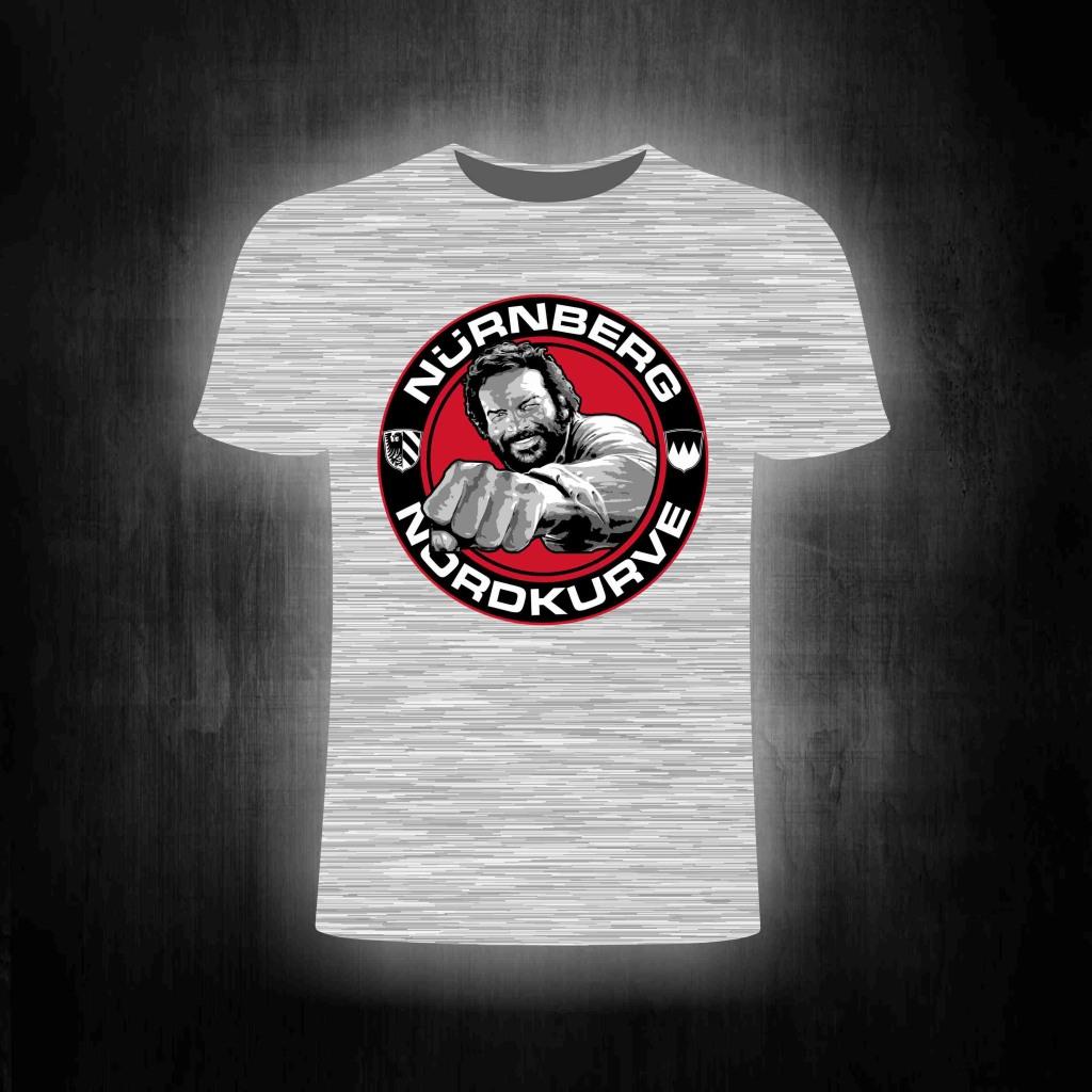 T-Shirt einseitig bedruckt  Buddy  graumeliert