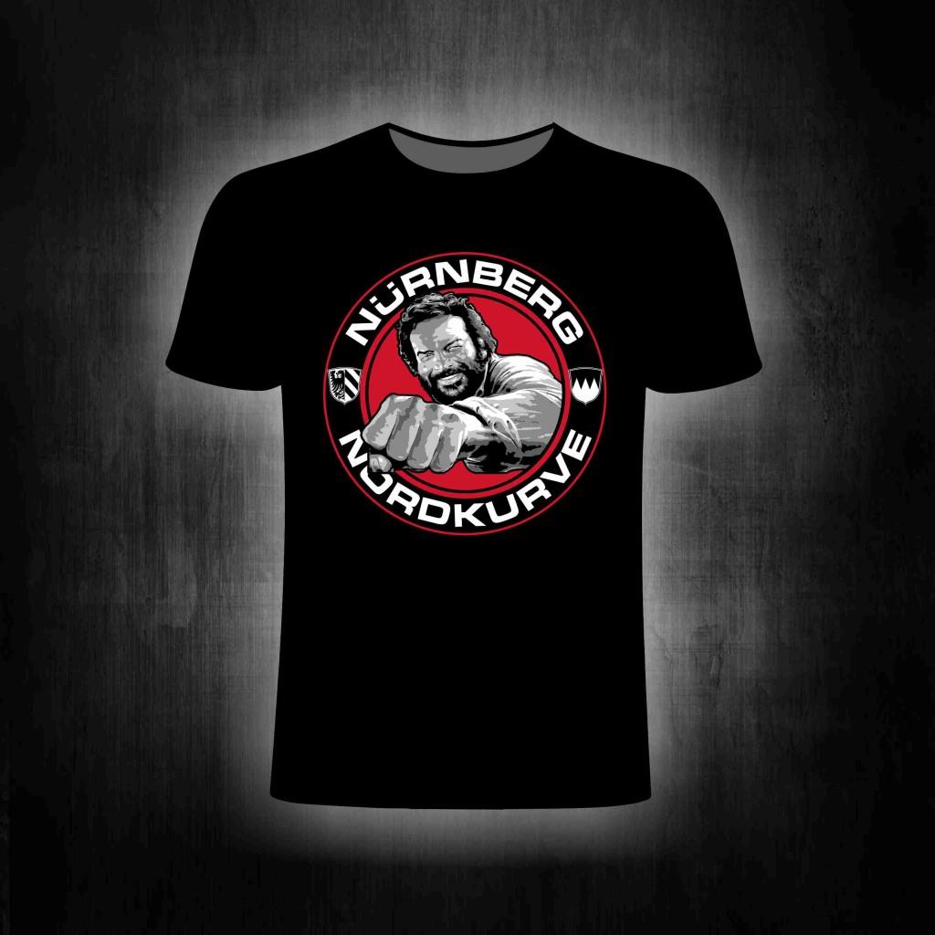 T-Shirt einseitig bedruckt  Buddy in schwarz