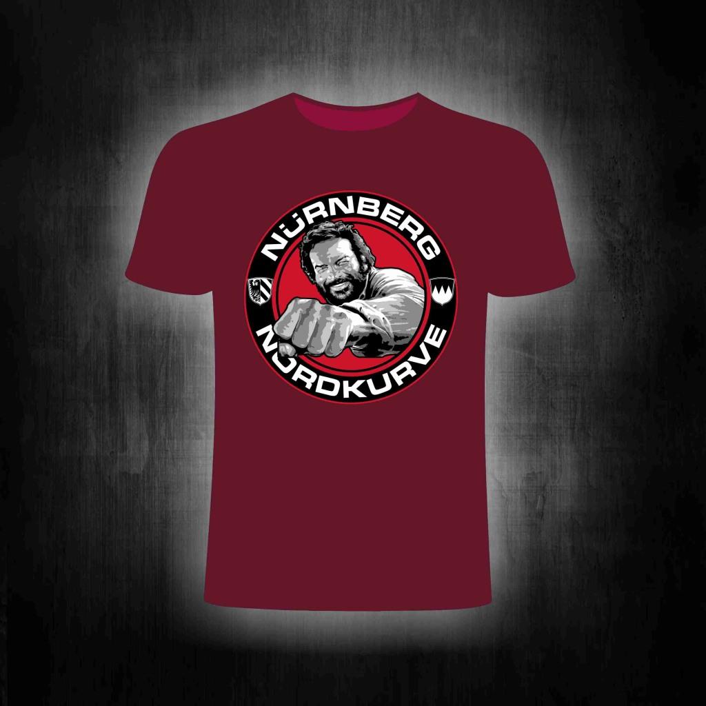 T-Shirt einseitig bedruckt  Buddy Nordkurve  weinrot