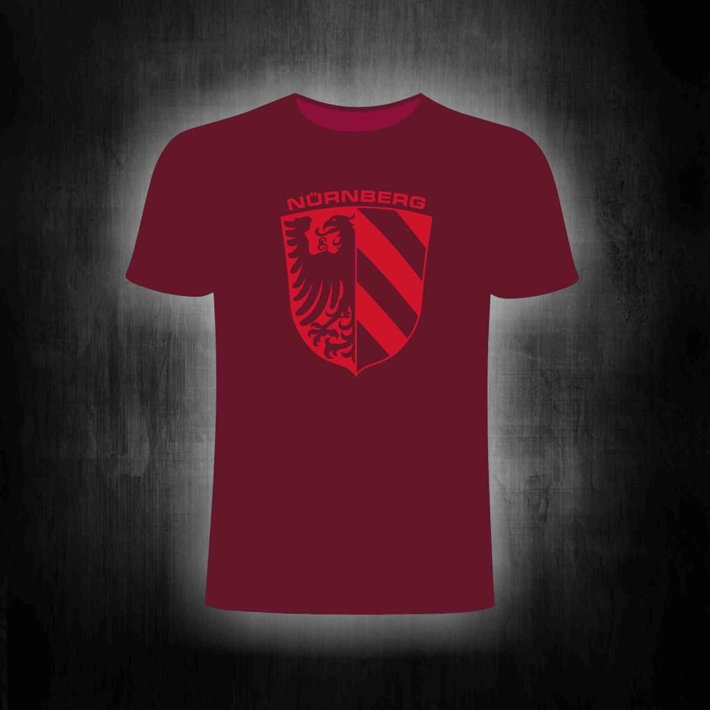 T-Shirt einseitig bedruckt  Nürnberg Stadtwappen rot