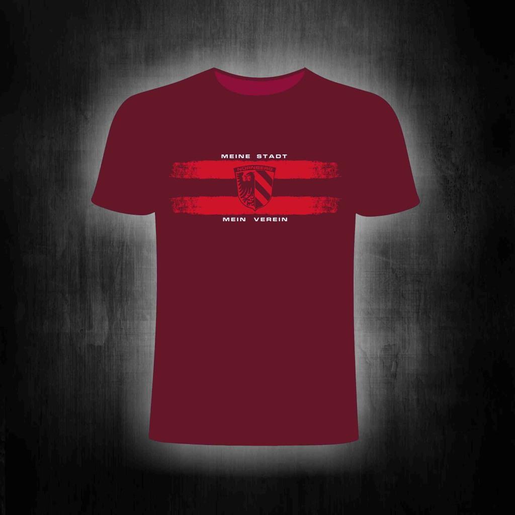 T-Shirt einseitig bedruckt  Meine Stadt Mein Verein Stadtwappen