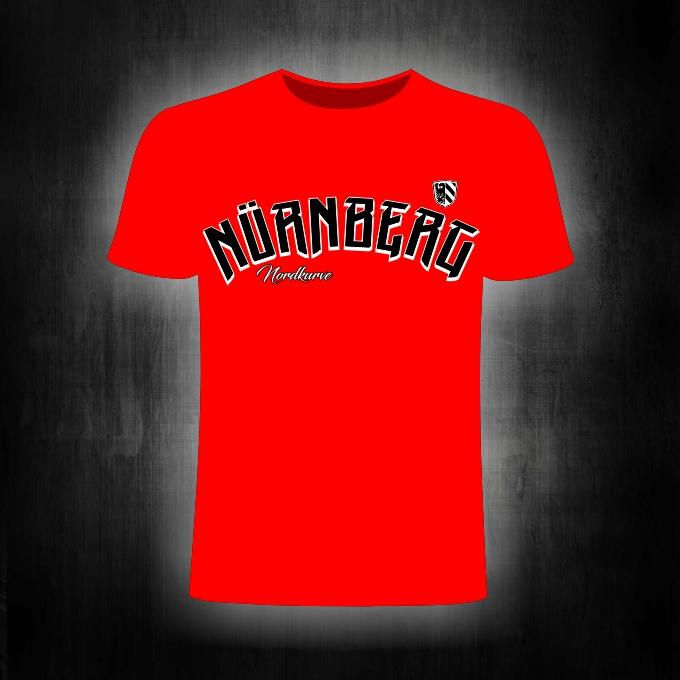 T-Shirt einseitig bedruckt  Nürnberg Nordkurve