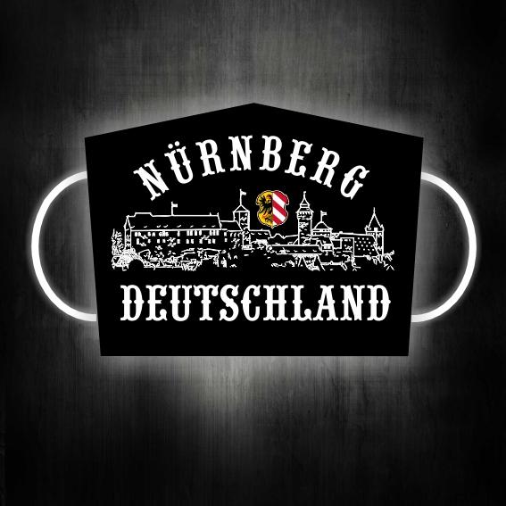 Gesichtsmaske für Glubberer Nürnberg Deutschland Herrengröße