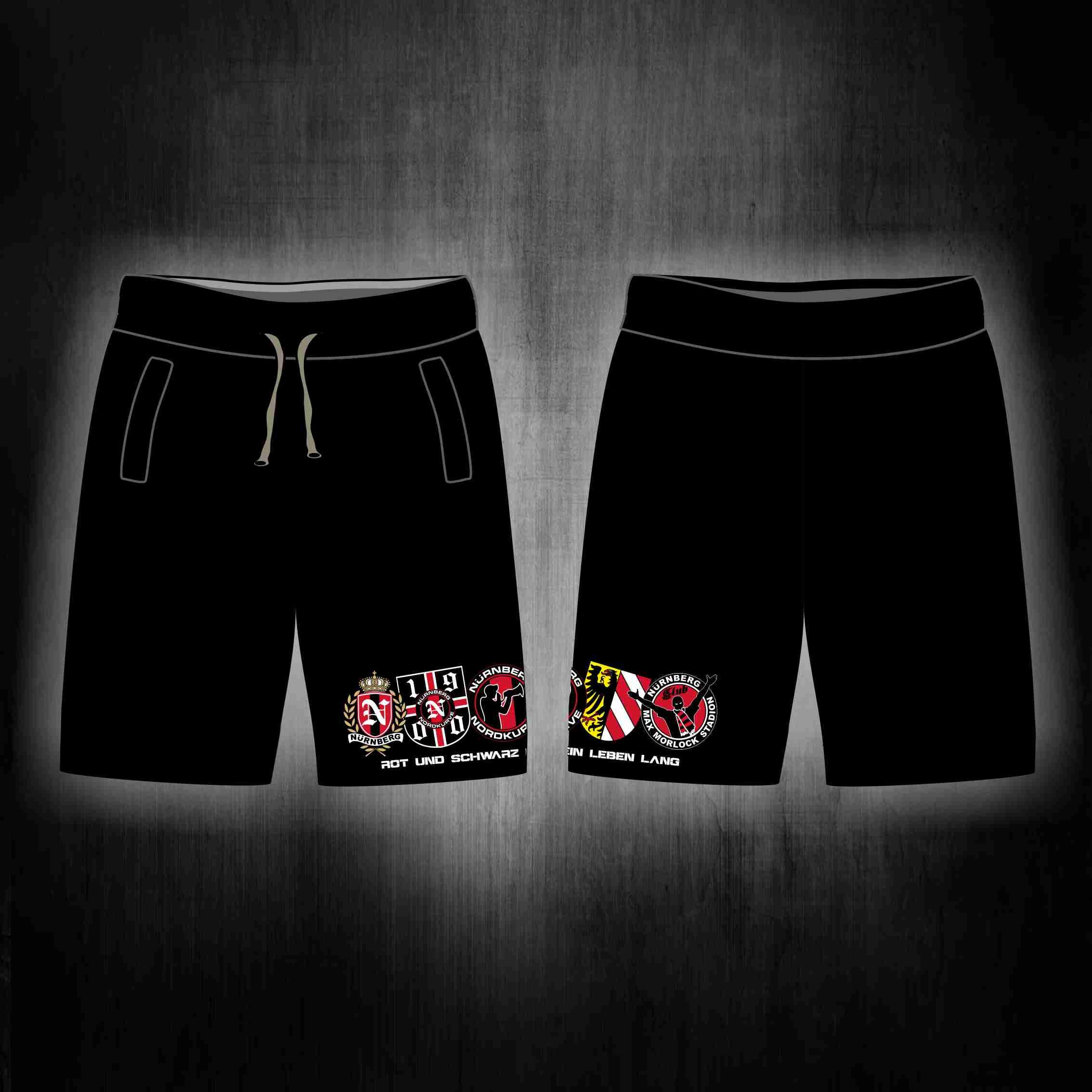 kurze Sweat Hose schwarz  5 Logos
