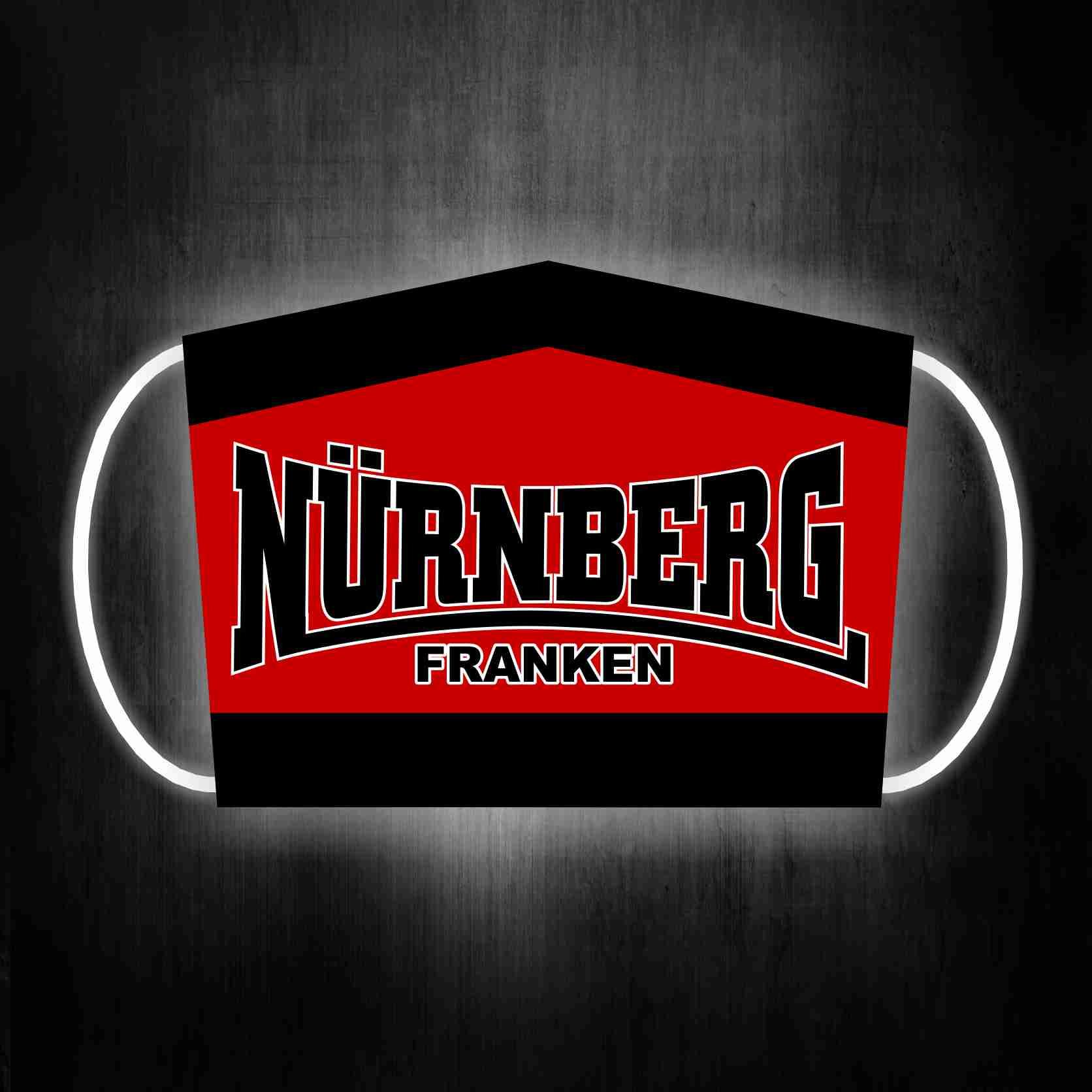 Gesichtsmaske für Glubberer Nürnberg Franken Oldschool