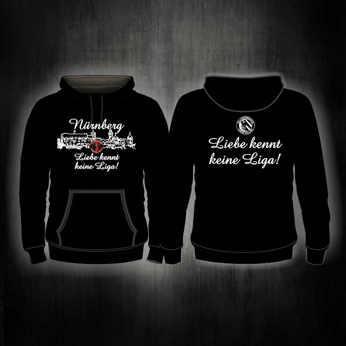 Kapuzen Sweater 'Liebe kennt keine Liga'