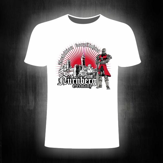 T- Shirt einseitig bedruckt    'Tradition verpflichtet'  Ritter