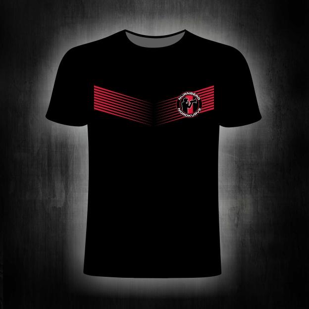 T- Shirt einseitig bedruckt    Nordkurve' Streifen