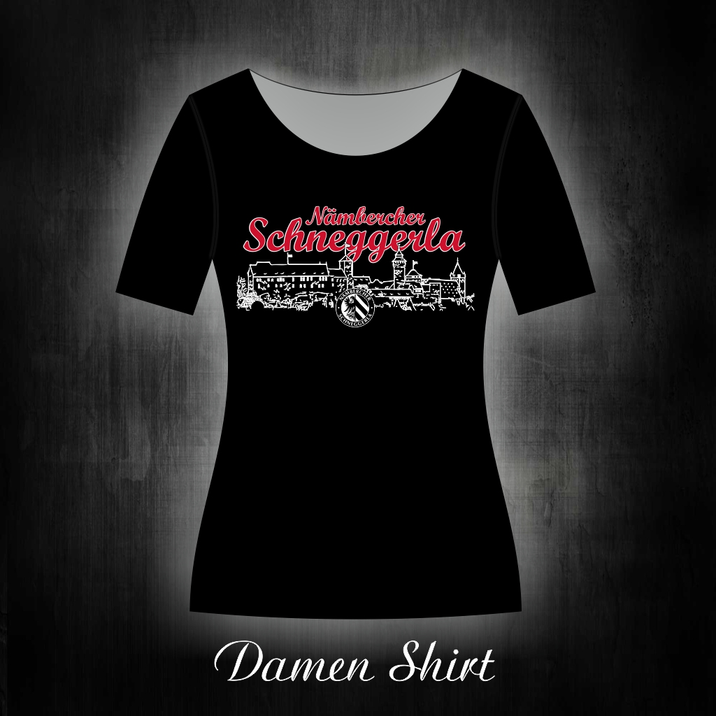 Damen T-Shirt 'Nämbercher Schneggerla'