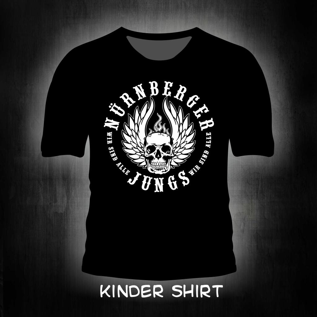 Kinder T- Shirt - Nürnberger Jungs schwarz