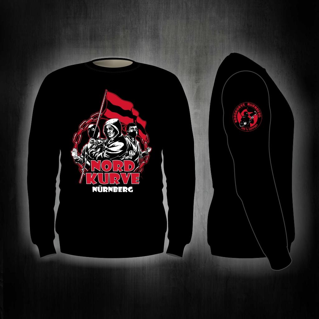 Sweat Shirt  Front + Ärmeldruck   Fahnenterror   schwarz