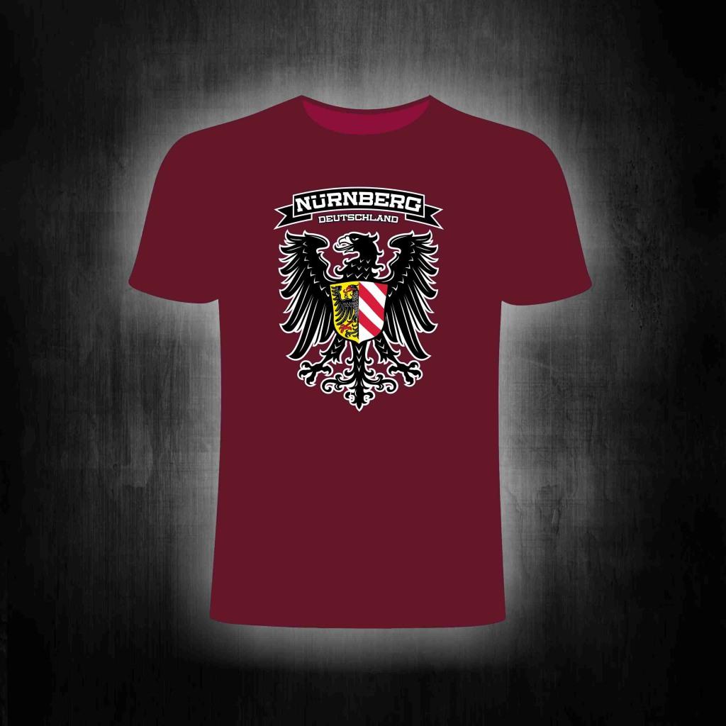 T-Shirt einseitig bedruckt  Nürnberg Adler