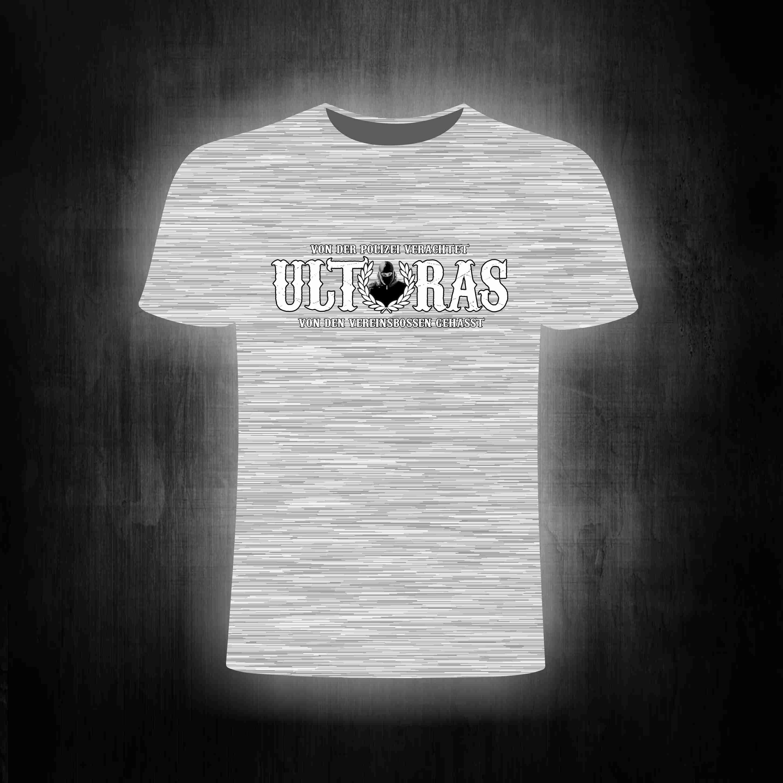 T-Shirt einseitig bedruckt  Ultras grau