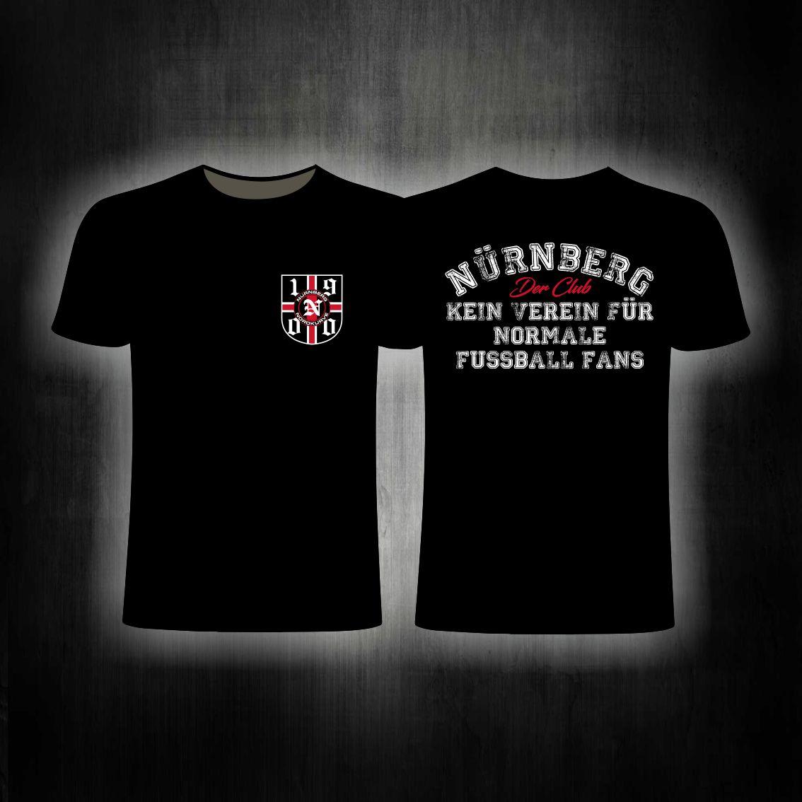 T-Shirt beidseitig bedruckt - Kein Verein für normale Fussballf