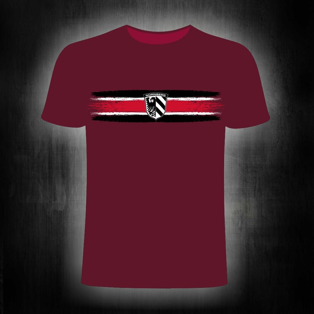 T-Shirt einseitig bedruckt  Streifen Stadtwappen