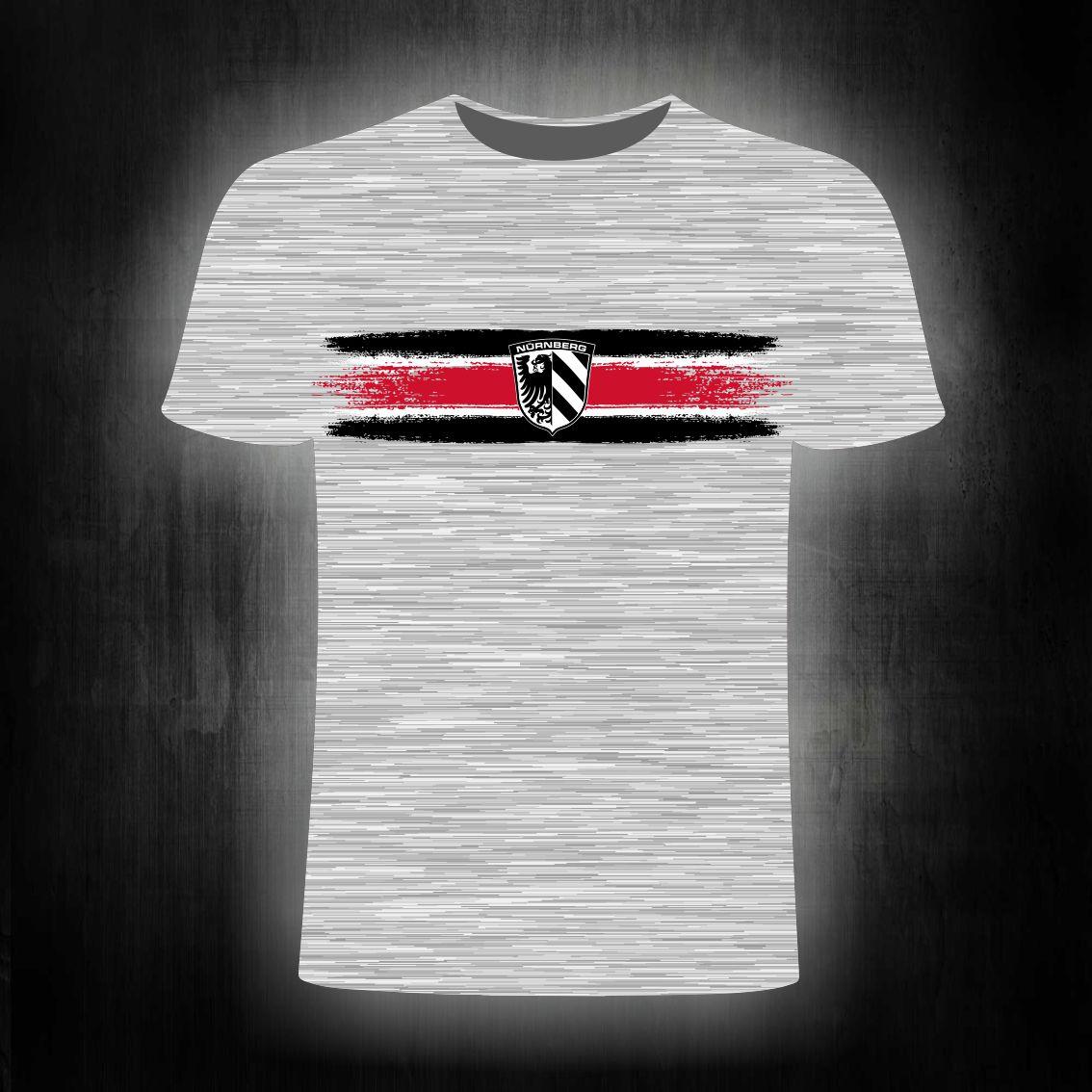 T-Shirt einseitig bedruckt  Streifen Stadtwappen grau meliert