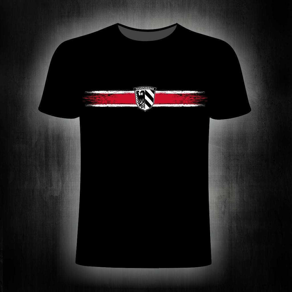 T-Shirt einseitig bedruckt  Streifen Stadtwappen schwarz