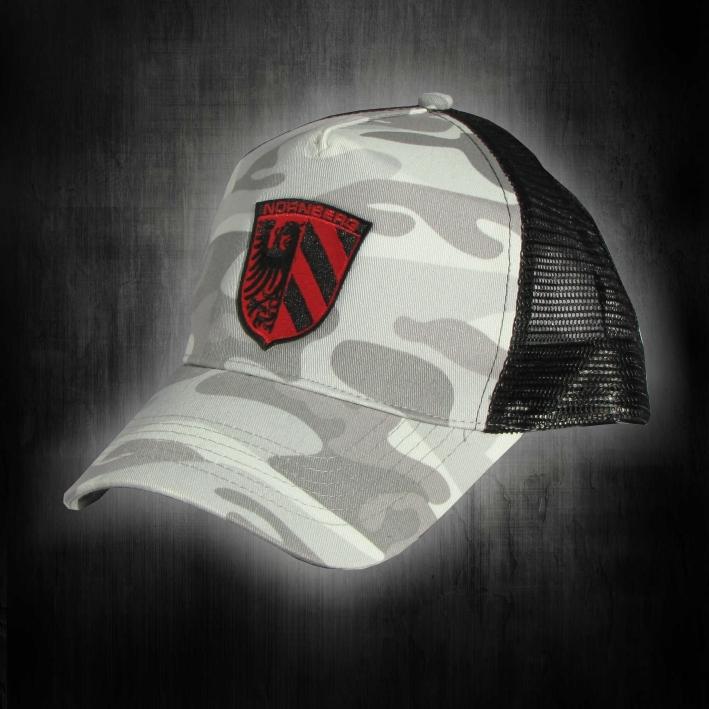 Base Cap mit gestickten Logo   Stadtwappen rot-schwarz
