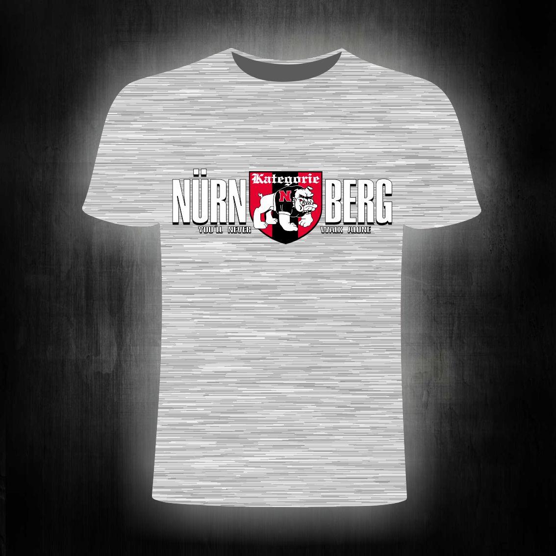 T-Shirt einseitig bedruckt you will never walk alone   Bulldog