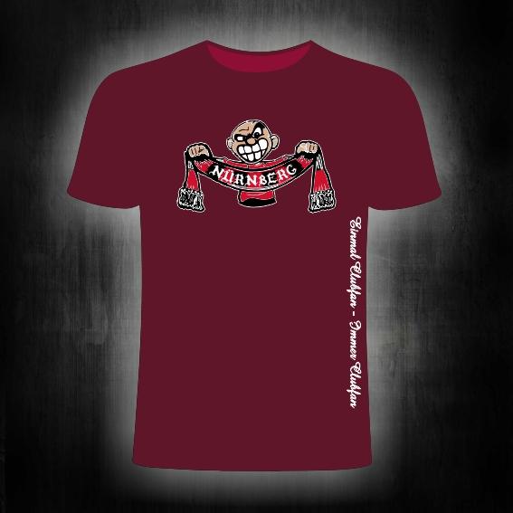 T-Shirt einseitig bedruckt  Schalhalter  weinrot