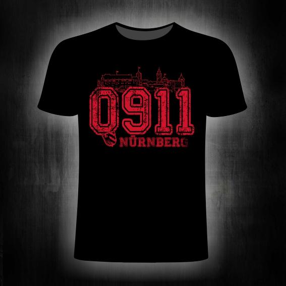 T-Shirt einseitig bedruckt  0911 vintage schwarz