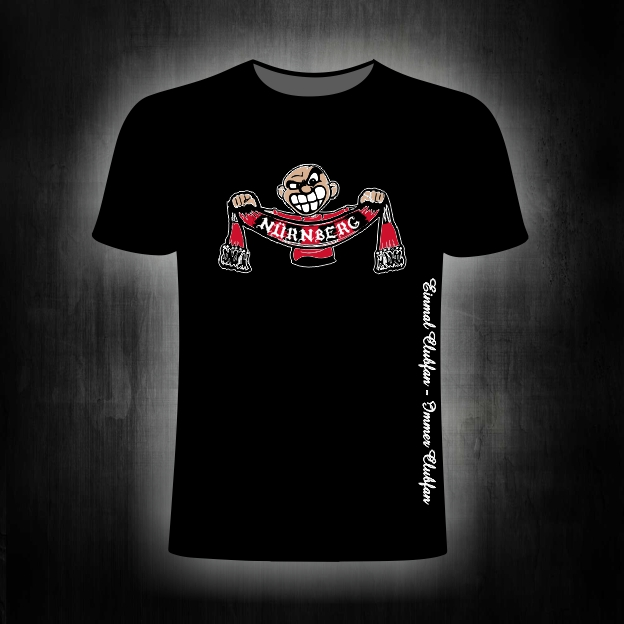 T-Shirt einseitig bedruckt  Schalhalter schwarz