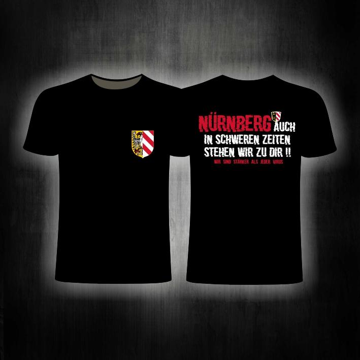 T-Shirt beidseitig bedruckt  Auch in schweren Zeiten stehen wir