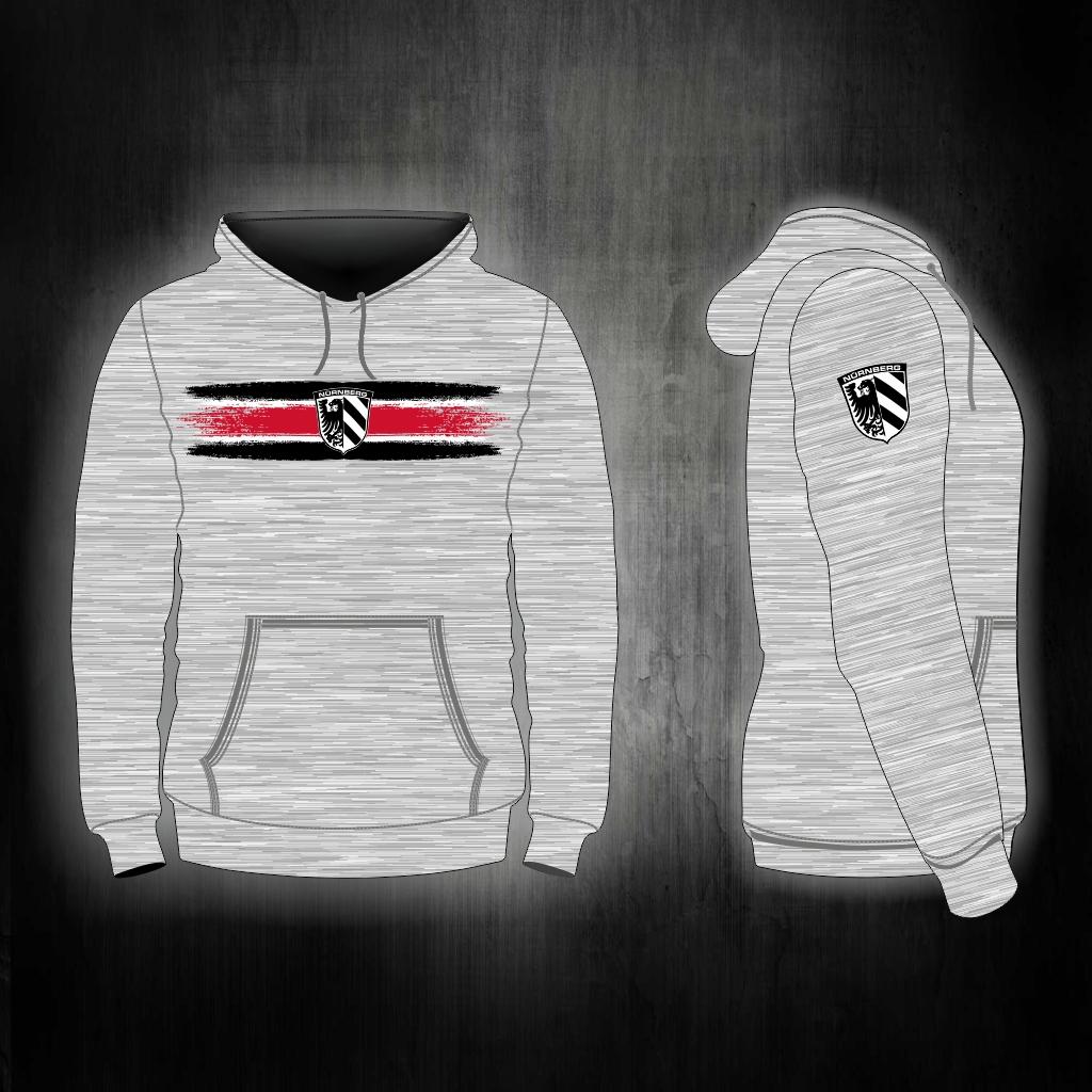 Kapuzen Sweatshirt Front + Ärmeldruck  - Vintage Streifen